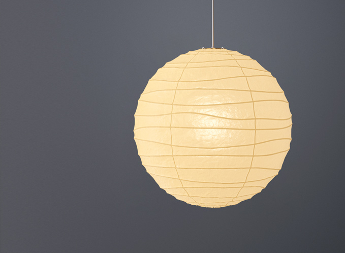 akari noguchi ceiling lamp 75d 100d