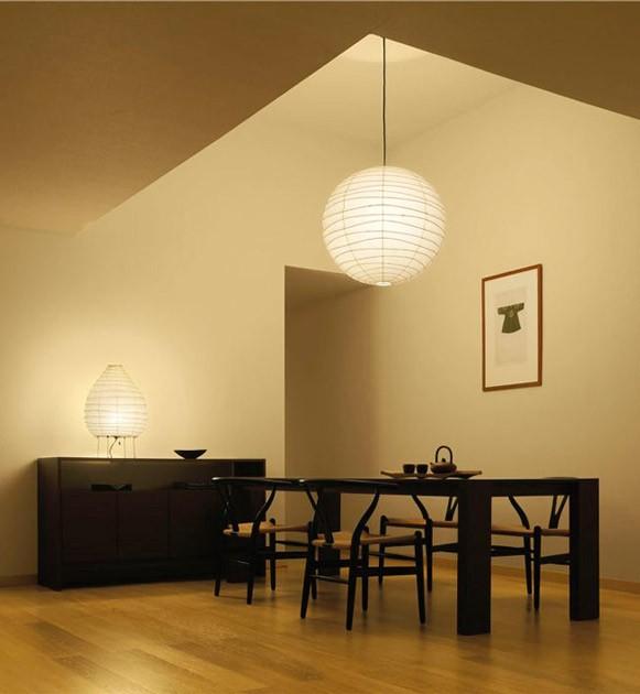 Akari Noguchi Ceiling Lamp 30D-37D-45D-55D : surrounding.com