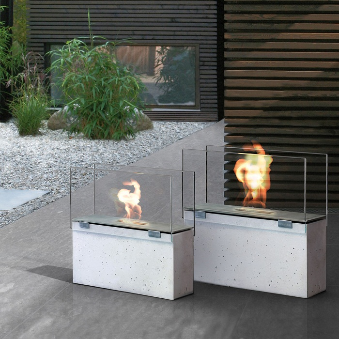 Conmoto Mentas Hardened Crystal Fireplace Screen