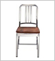 EMECO Navy Chair with Wood