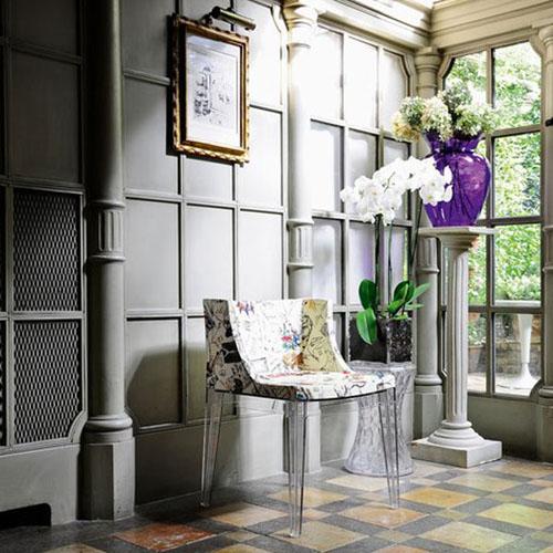kartell la bohme stool and vase. Black Bedroom Furniture Sets. Home Design Ideas
