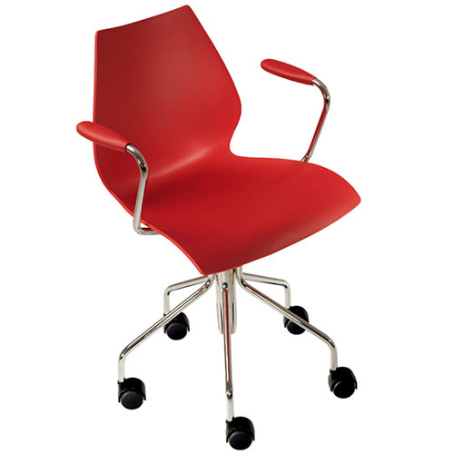 kartell maui chair on wheel