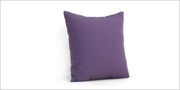 Lebello Sunbrella Throw Pillow Purple by Lebello