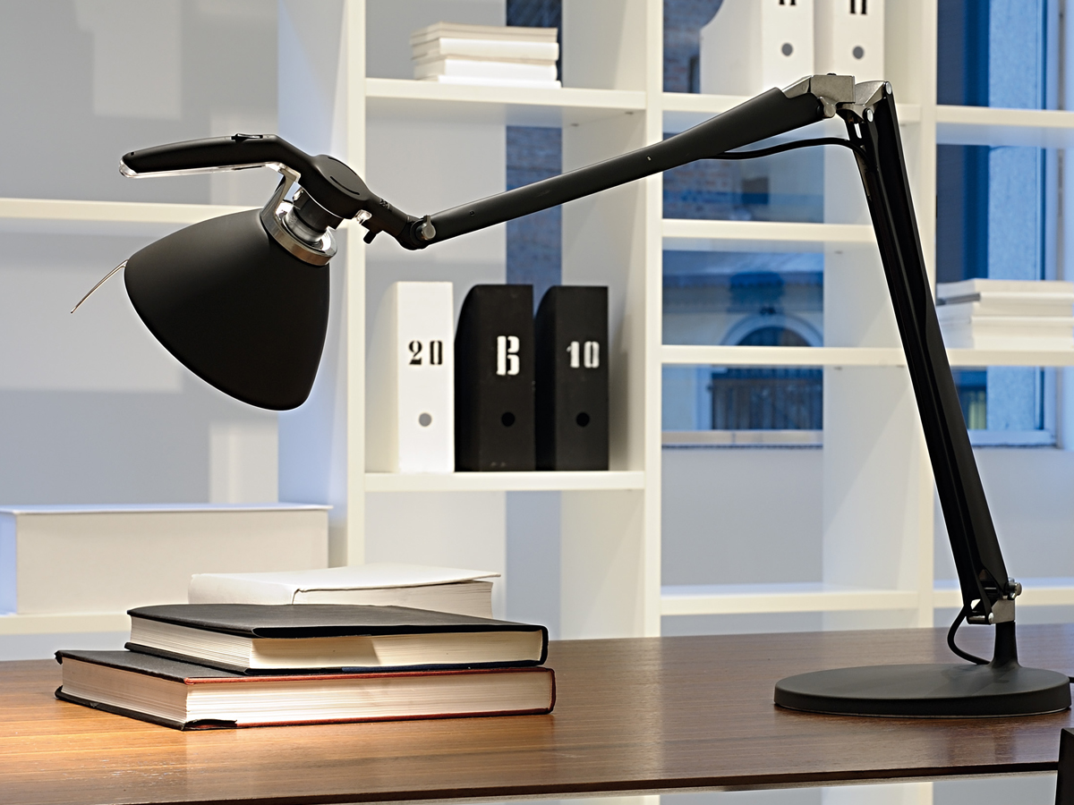 luceplan fortebraccio task lamp. Black Bedroom Furniture Sets. Home Design Ideas