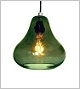 Luxello Kiss Pendant Light - Olive Glass