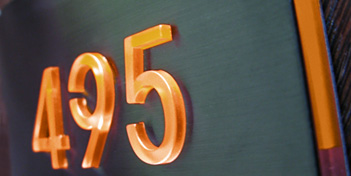 Illuminated Number Sign by Luxello