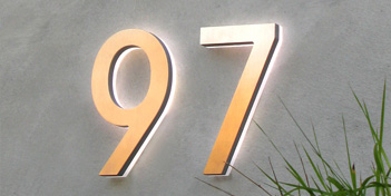 LUXELLO | MODERN LED HOUSE NUMBER 5 OUTDOOR