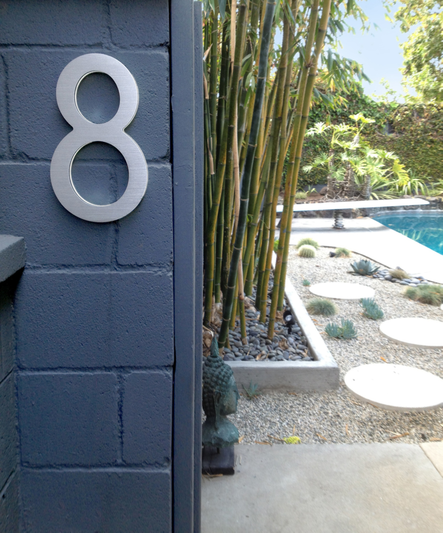 Modern 16 Lighted House Numbers Large