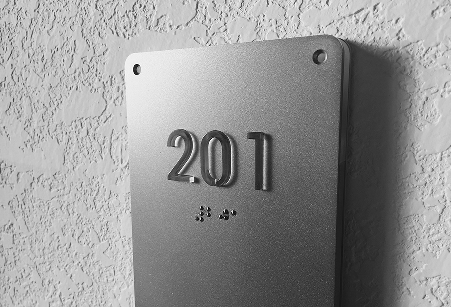 how to write room number in braille