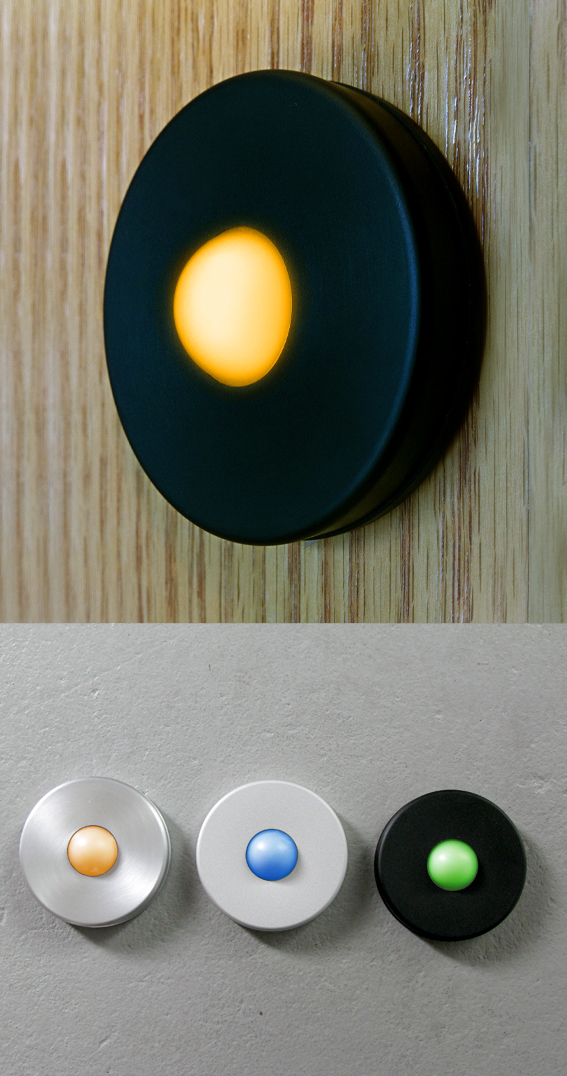Simple Bronze LED Doorbell Button