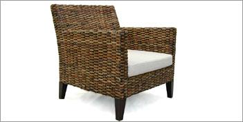 Rattan & Wicker Skin Brown Armchair by Rattan &  Wickers