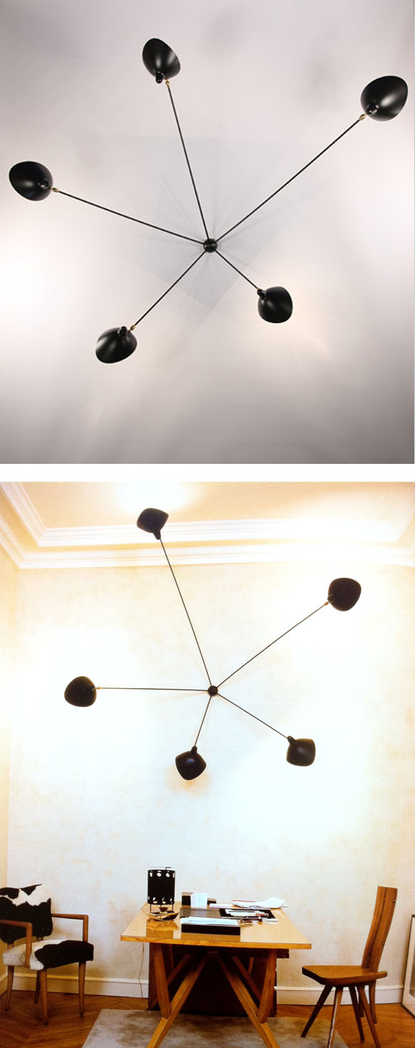 Serge mouille 5 arm spider wall sconce surrounding 5 arm spider wall sconce details arubaitofo Images
