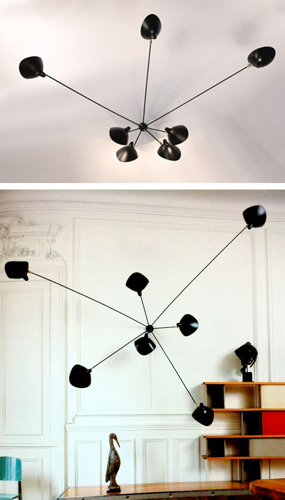 7 Arm Spider Wall Sconce