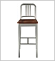 Navy Barstool with Wood