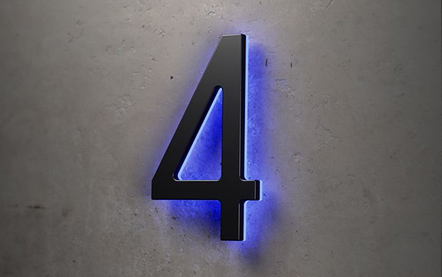 LUXELLO | BLACK 16 BACKLIT HOUSE NUMBERS