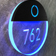 Round Lighted Clear LED Numbers Sign by Luxello