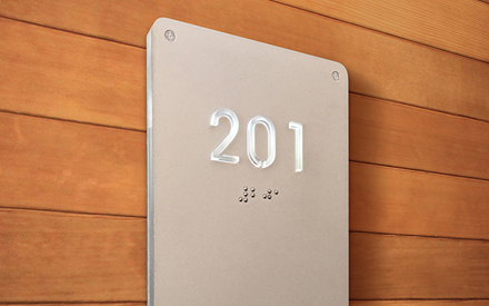 LUXELLO | ILLUMINATED MODERN ROOM NUMBER SIGN BRAILLE