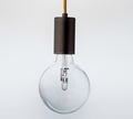 Luxello Purity LED Bronze Cord & Socket Pendant