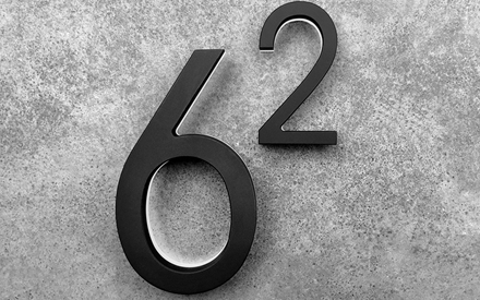 LUXELLO | MODERN BLACK NUMBERS BACKLIT 5