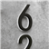 Modern Black Numbers Backlit 5