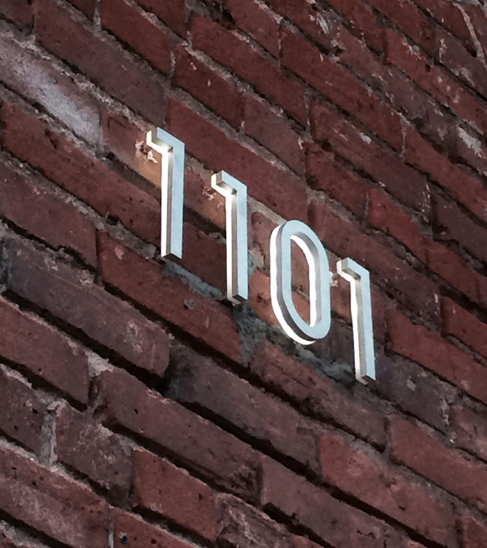Luxello Modern 8 Backlit Led House Numbers Surrounding Com