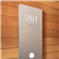 illuminated Modern Room Number Sign Braille