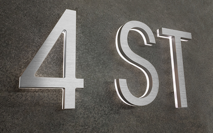 Luxello Modern Lighted Address Letters 8