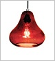 Kiss Pendant Lamp - Ruby Red