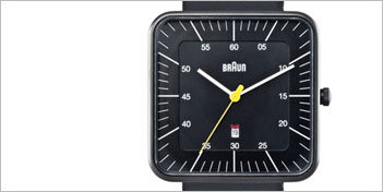 MODERN WATCHES | BRAUN SQUARE ANALOG WATCH