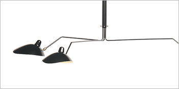 SERGE MOUILLE | 3 ARM CEILING LAMP