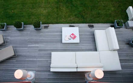 SERRALUNGA FURNITURE | ONE OUTDOOR SOFA WITH ONE SEAT