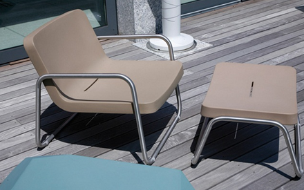 SERRALUNGA FURNITURE | TIME OUT OUTDOOR STOOL
